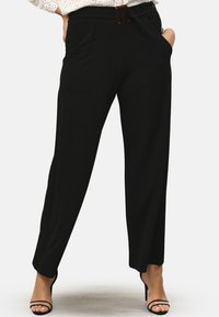 Pink Clove - BUCKLE - Trousers - black - 0