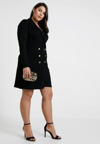 Pink Clove - DOUBLE BREASTED BUTTON DRESS - Jerseykleid - black - 1