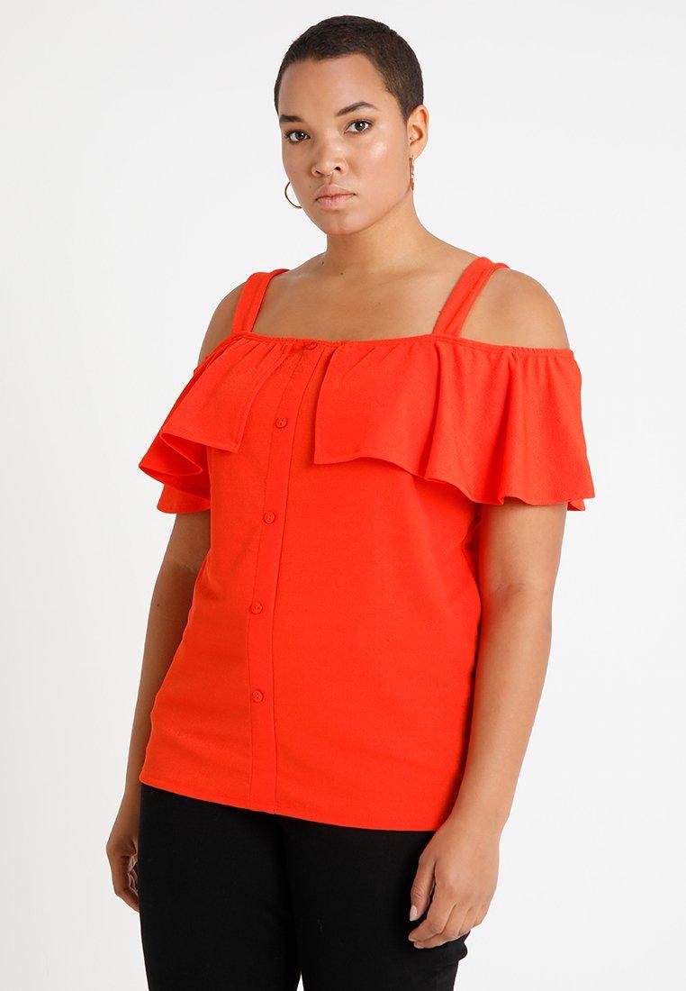 Pink Clove - BUTTON BARDOT - T-shirt med print - orange