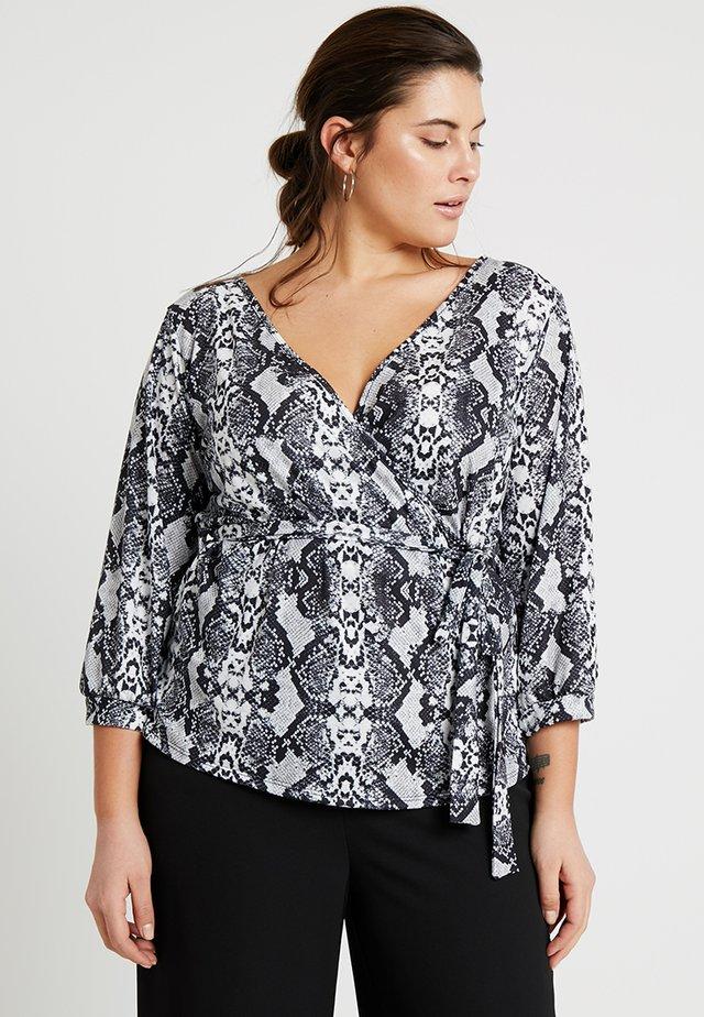 WRAP - Long sleeved top - grey