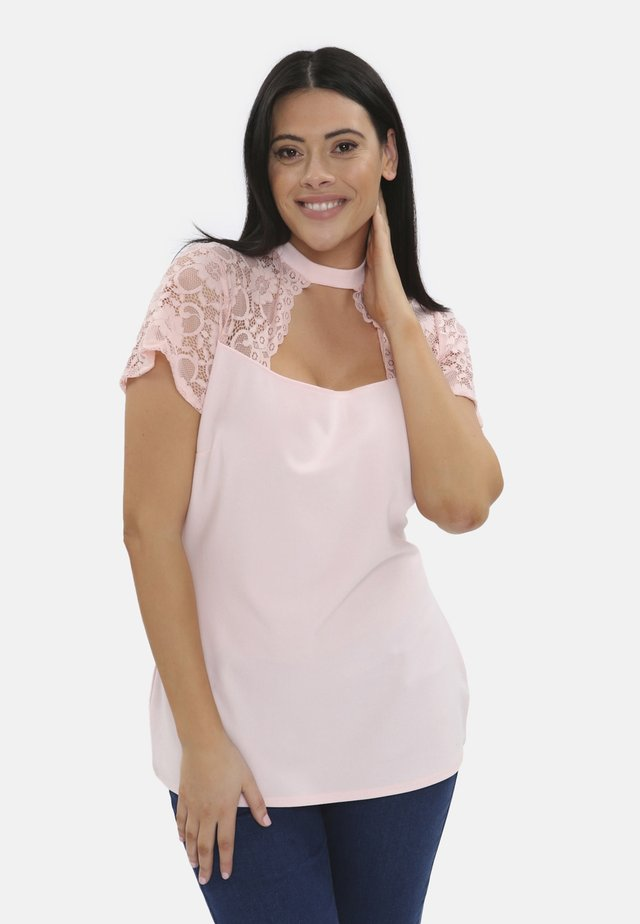 MESH CUT OUT - Blouse - pink