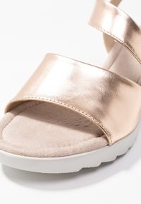 Pier One Wide Fit - Wedge sandals - rose gold - 2