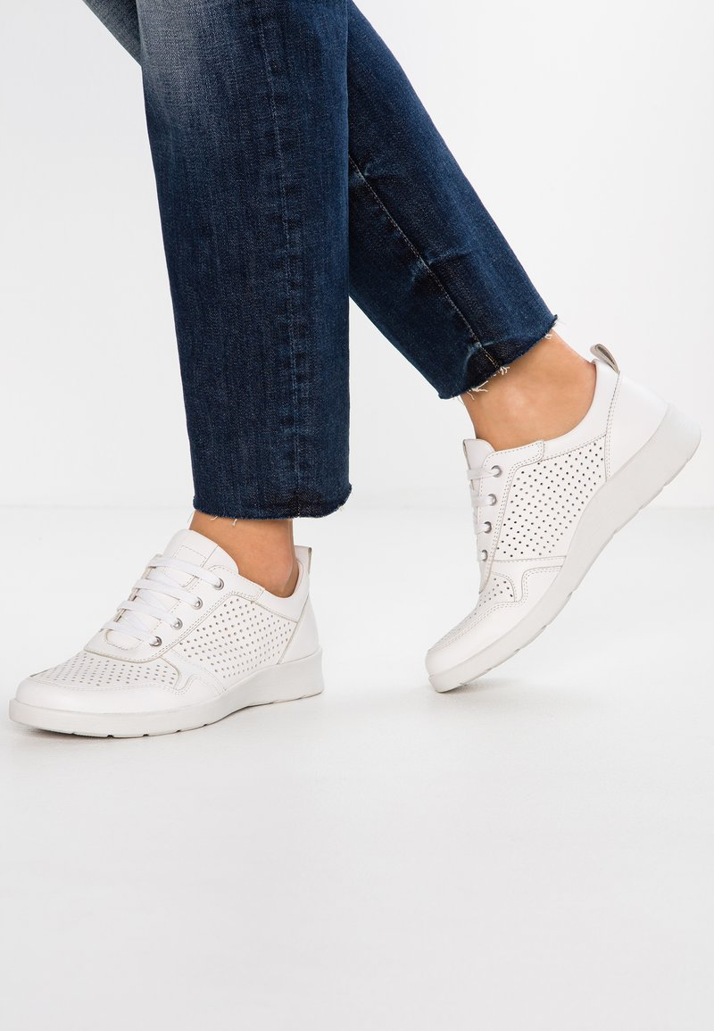 Pier One Wide Fit - WIDE FIT - Sneakers basse - white
