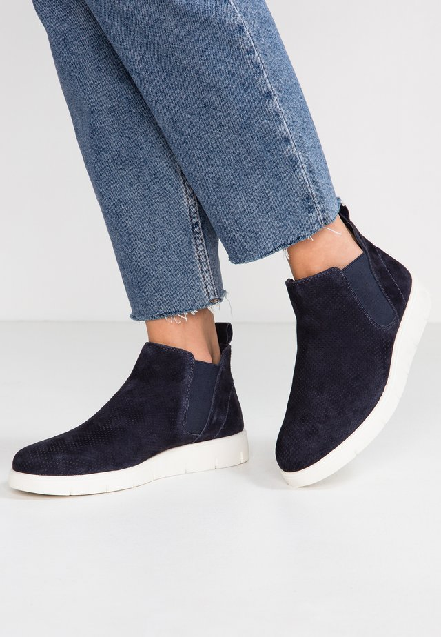 WIDE FIT - Ankle boots - dark blue