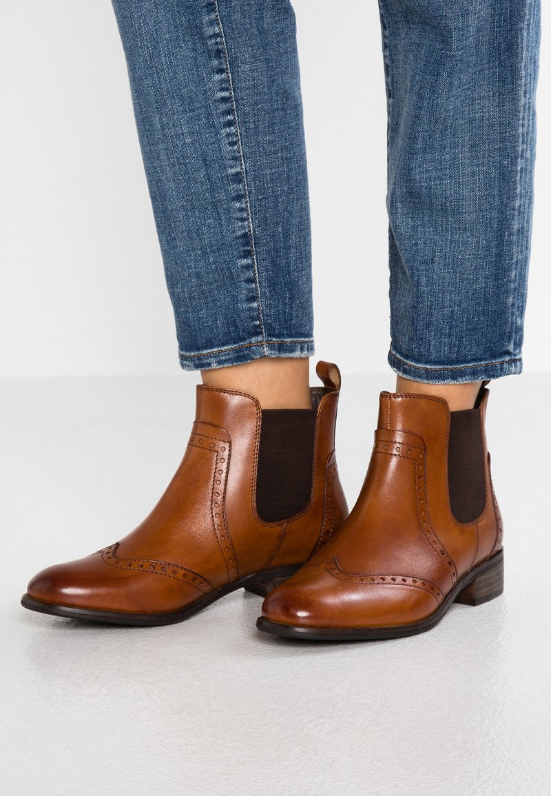Pier One Wide Fit - Ankle boots - cognac