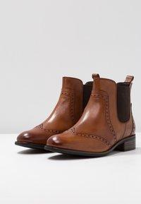 Pier One Wide Fit - Ankle boots - cognac - 4
