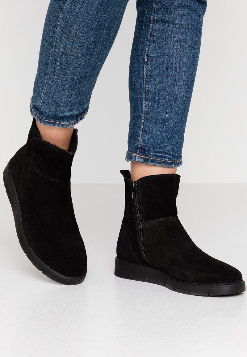 Pier One Wide Fit - Kotníkové boty - black
