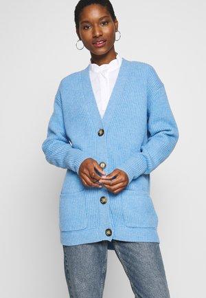VICTORIA LONG CARDIGAN - Cardigan - blue