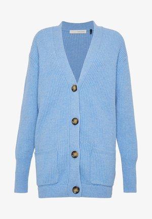 VICTORIA LONG CARDIGAN - Gilet - blue