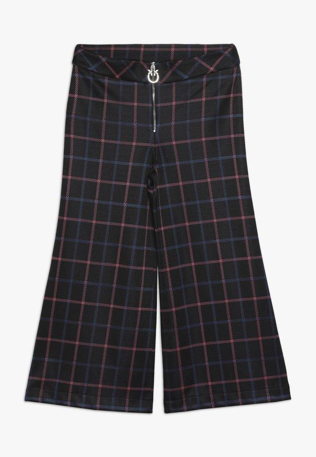 AMMIRAGLIO PANTALONE PUNTO MASCHILE - Spodnie materiałowe - black
