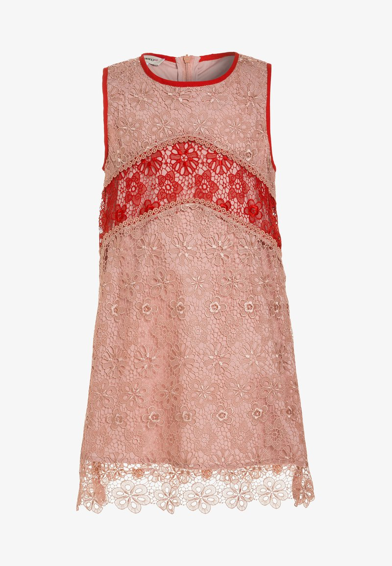 Pinko Up - CHIESE ABITO MACRAME FLOREALE - Cocktail dress / Party dress - cipria/corallo