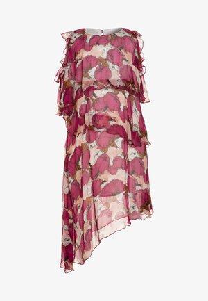 FLUMENDOSA ABITO CREPONNE PEONIA - Robe longue - multicolor/ciclamino/cipri