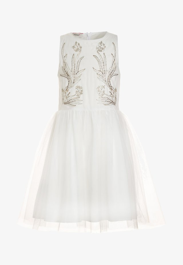 PARANA ABITO RICAMATO - Vestito elegante - bianco