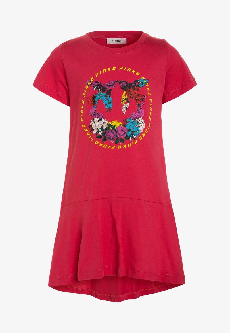 Pinko Up - OFANTO ABITO  - Jersey dress - rosa corallo/pepe