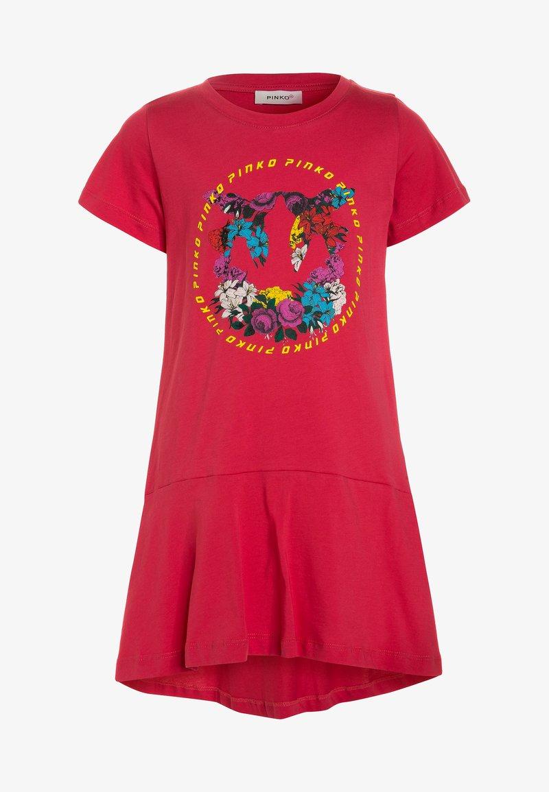 Pinko Up - OFANTO ABITO  - Žerzejové šaty - rosa corallo/pepe