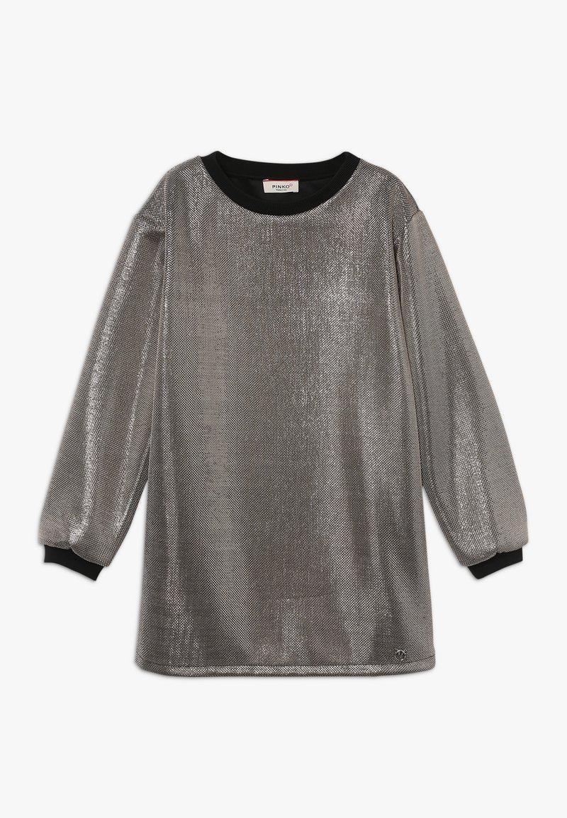 Pinko Up - FLORICOLTORE ABITO MAGLIA - Sukienka koktajlowa - silver