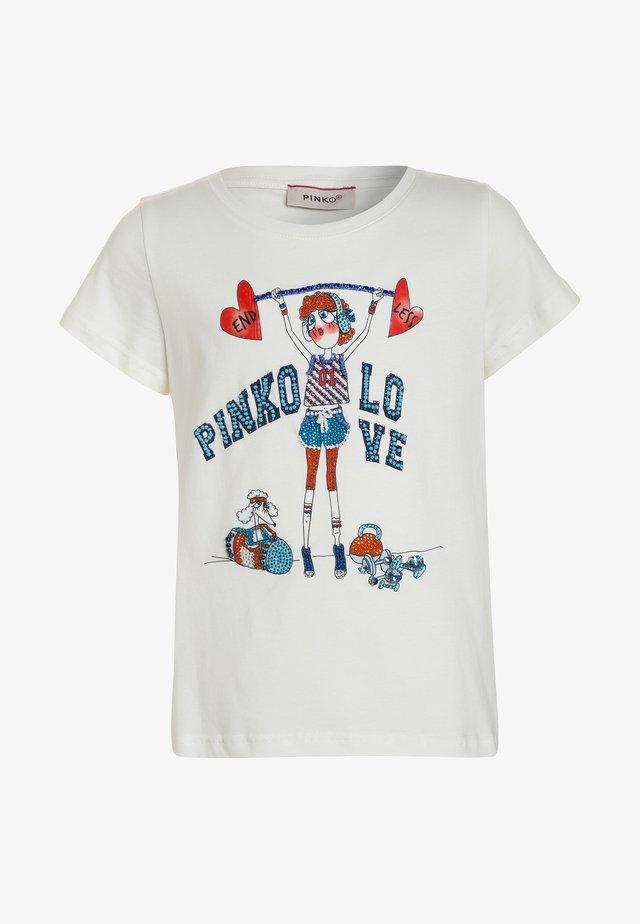 T-shirts print - bianco/biancaneve