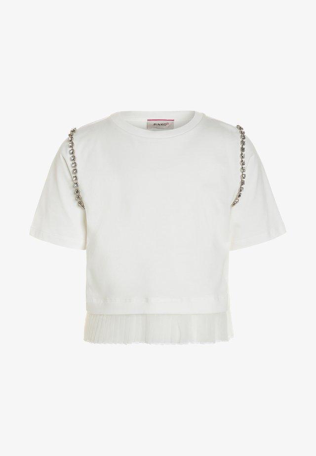 AGOGNA  - T-Shirt print - bianco/biancaneve