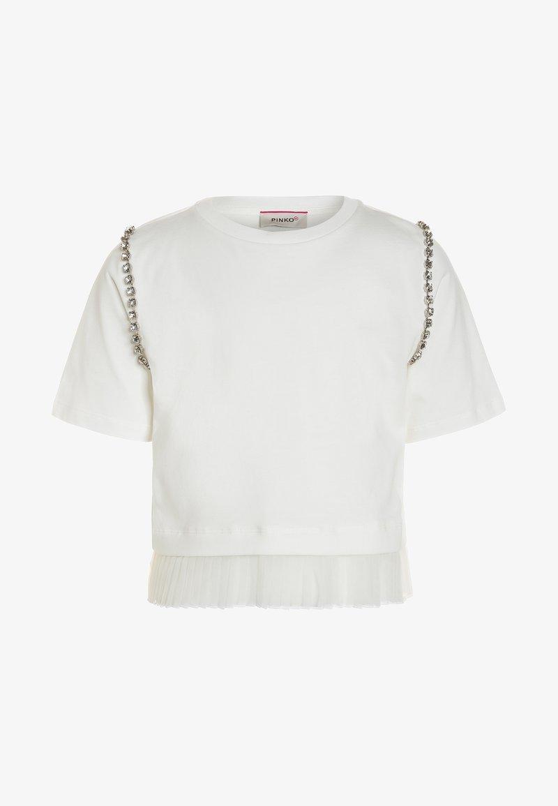Pinko Up - AGOGNA  - T-shirt z nadrukiem - bianco/biancaneve