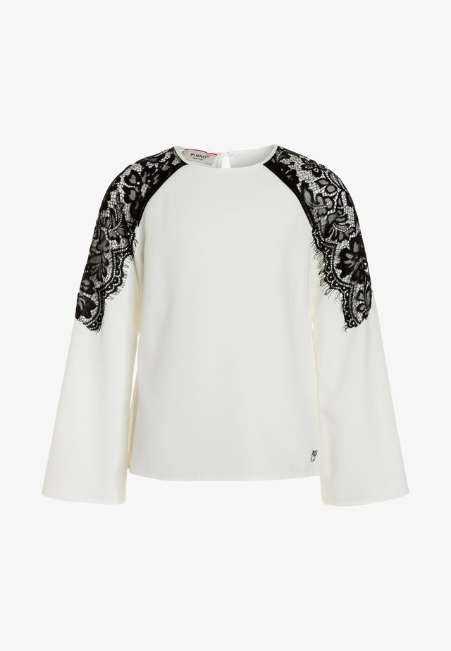 ESINO BLUSA GEORGETTE - Blouse - bianco/biancaneve