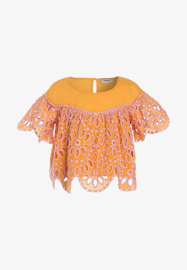 MAIRA BLUSA SANGALLO - Bluser - arancione/rosa