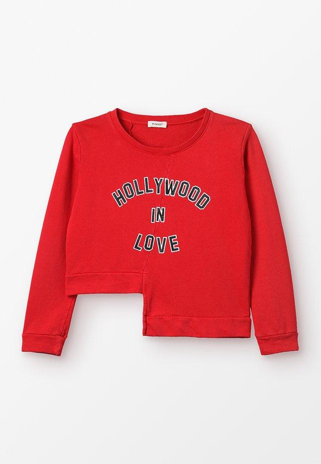 ODRA MAGLIA FELPA - Sweatshirts - rosso