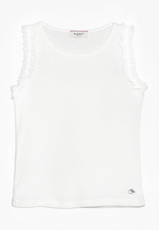 CORSAGLIA CANOTTA COSTINA STRETCH - Topper - bianco biancaneve