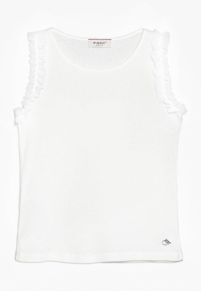 Pinko Up - CORSAGLIA CANOTTA COSTINA STRETCH - Top - bianco biancaneve