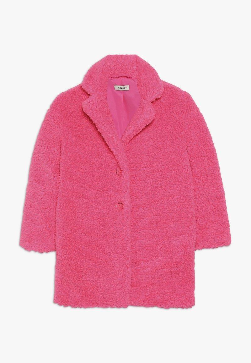 Pinko Up - AEROGRAFISTA CAPPOTTO ORSETTO - Zimní kabát - pink