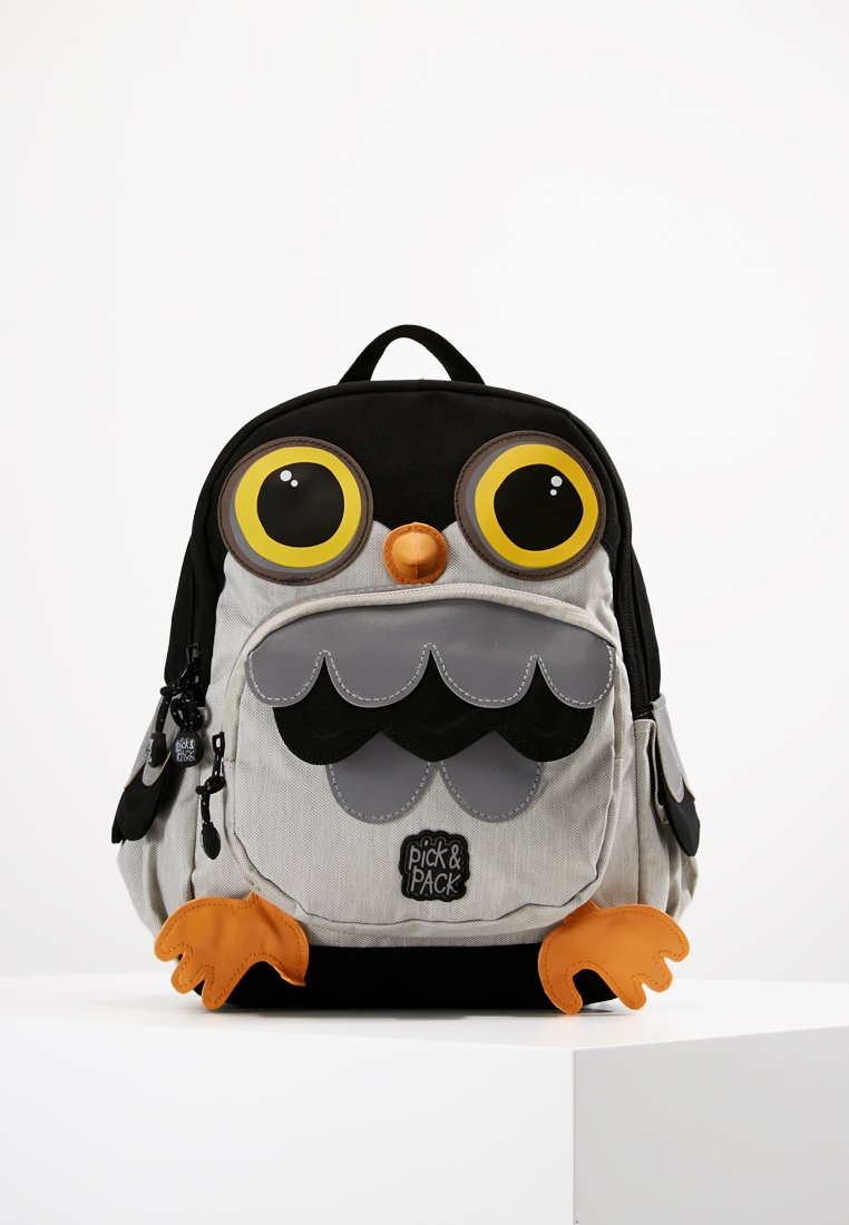 pick & PACK - OWL BACKPACK - Plecak - light grey/black