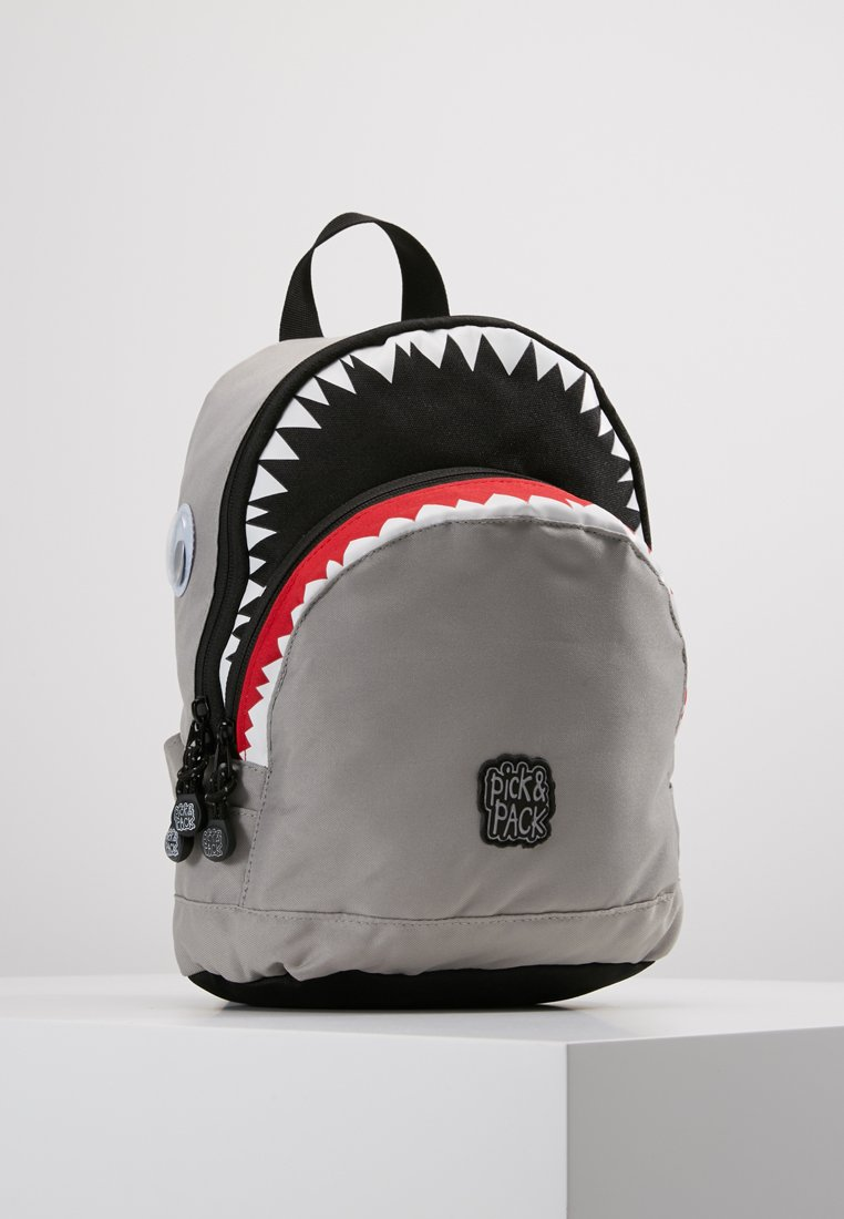 pick & PACK - SHARK BACKPACK - Mochila - light grey