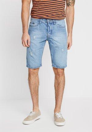 DENU - Denim shorts - light blue denim