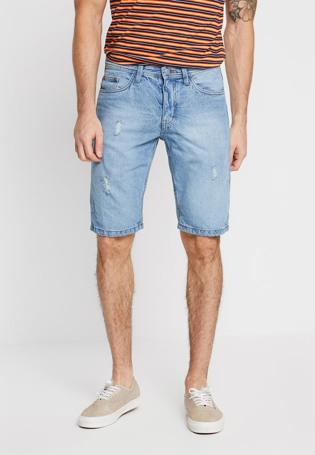 DENU - Shorts di jeans - light blue denim
