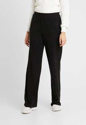 PCJANNIS WIDE PANT - Trousers - black