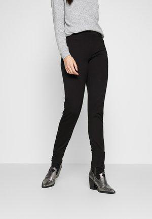 PCKLARA SLIM PANT - Kalhoty - black