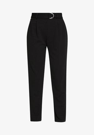 PCNALA  ANKLE PANTS - Trousers - black
