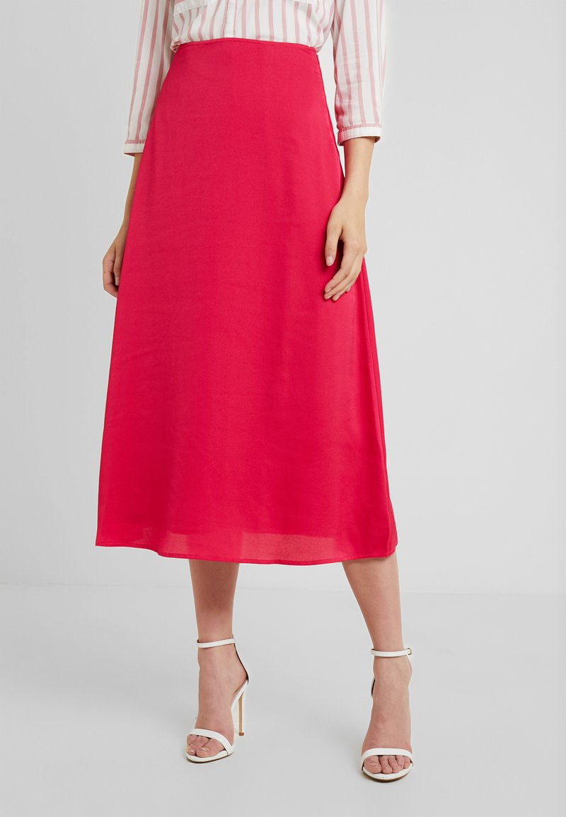 PIECES Tall - PCSANDRA MIDI SKIRT - A-snit nederdel/ A-formede nederdele - bright rose