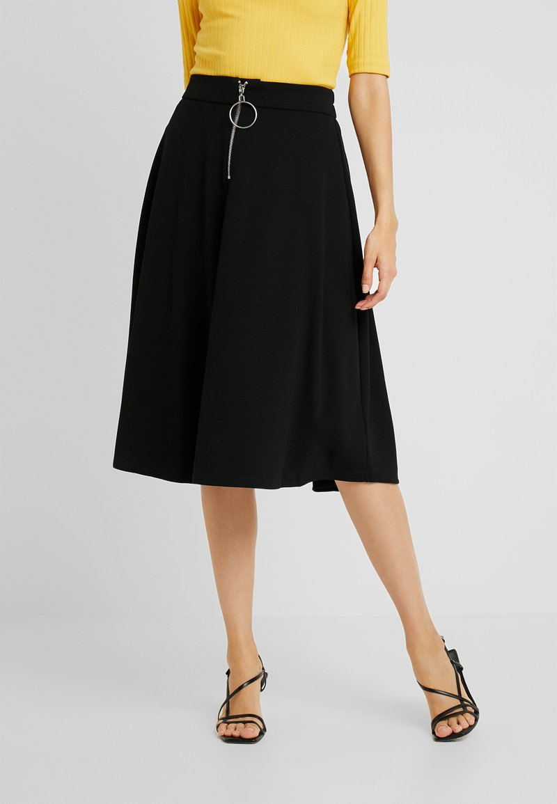 PIECES Tall - PCVICCA MIDI SKIRT TALL - A-snit nederdel/ A-formede nederdele - black