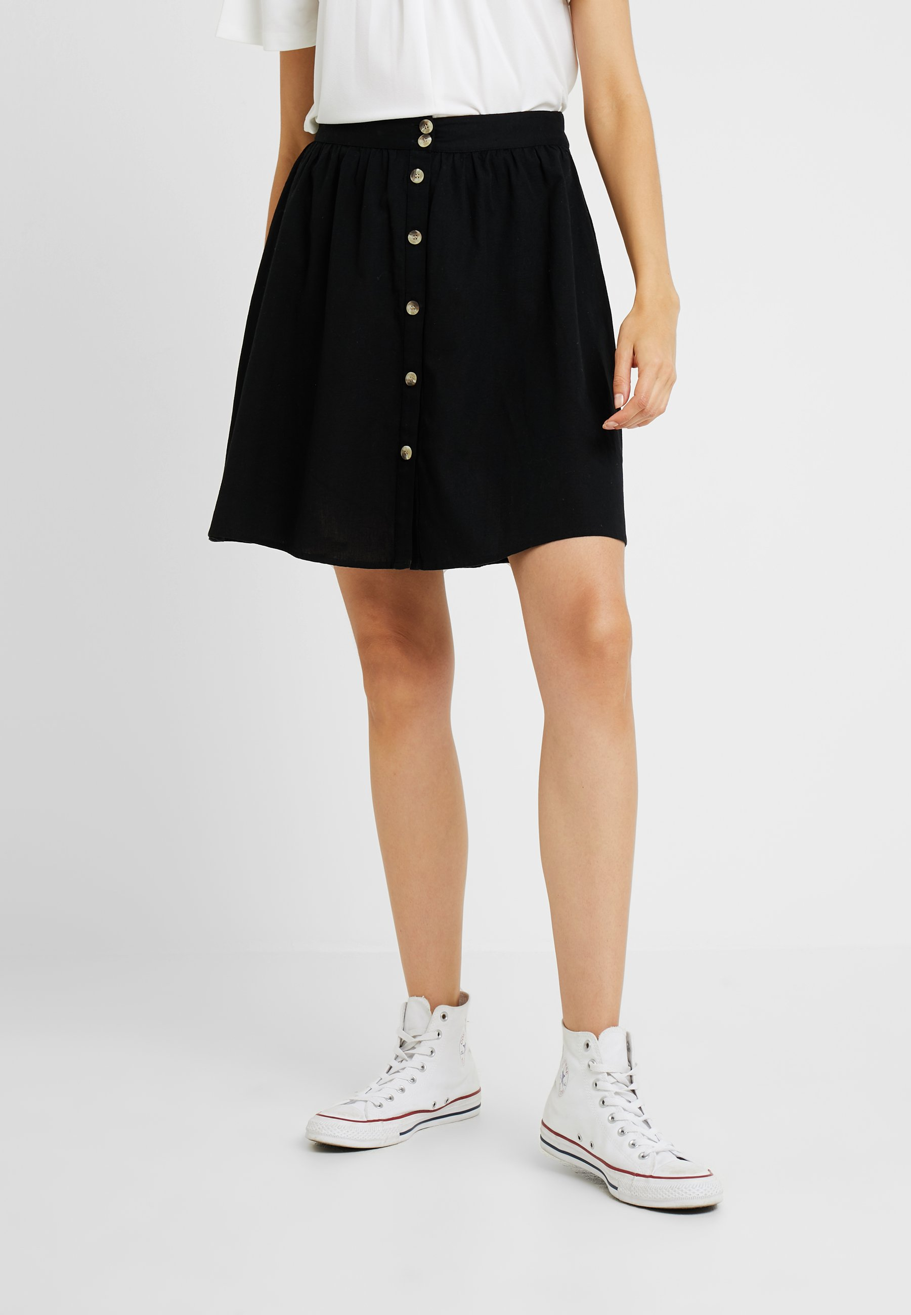 Pieces Black Pcedora Tall SkirtJupe Trapèze dBoWeCrx