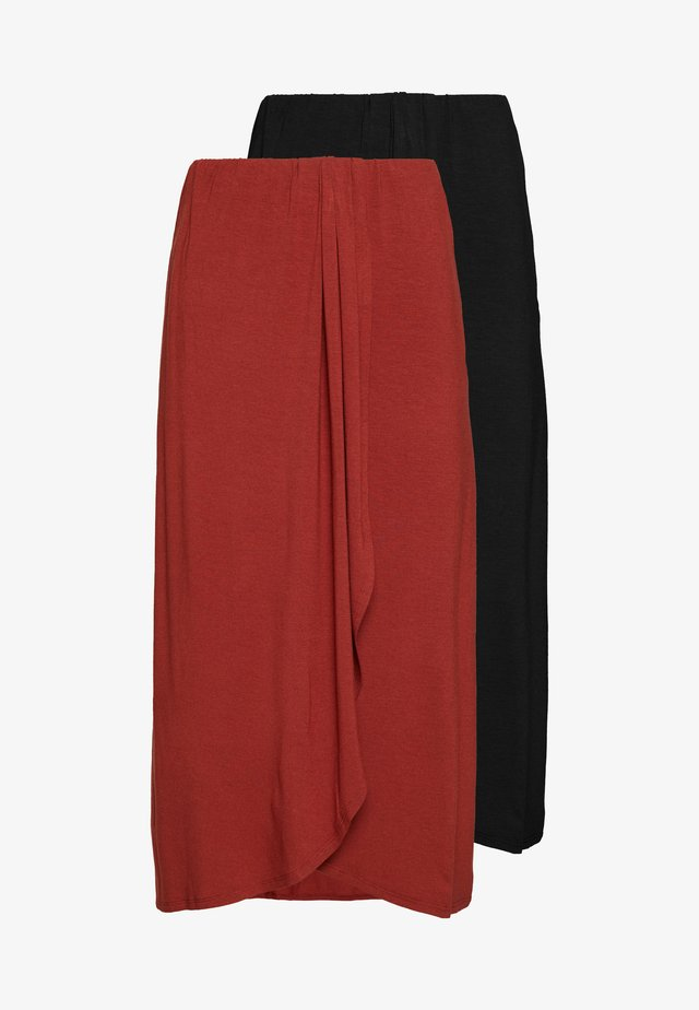 PCNEORA SKIRT 2PACK - Maxinederdele - black