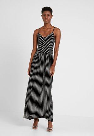 PCESTELLE  STRAP ANCLE DRESS - Długa sukienka - black/bright white