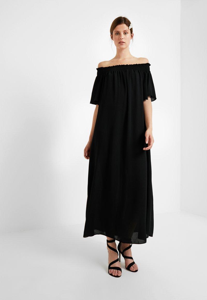 PIECES Tall - PCEMSA OFF SHOULDER MIDI DRESS - Maxikleid - black