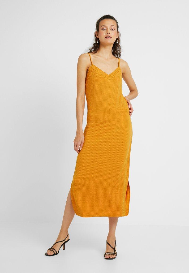PIECES Tall - PCFREJA SLIP DRESS - Maxi dress - cadmium yellow