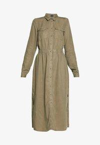 PIECES Tall - PCNOLA DRESS - Skjortekjole - deep lichen green - 4