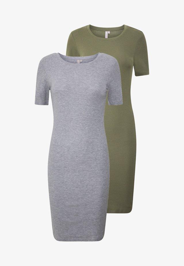 PCKAZZA TEE DRESS  2 PACK TALL - Jerseyjurk - light grey melange