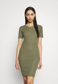 PIECES Tall - PCKAZZA TEE DRESS  2 PACK TALL - Jersey dress - light grey melange - 1