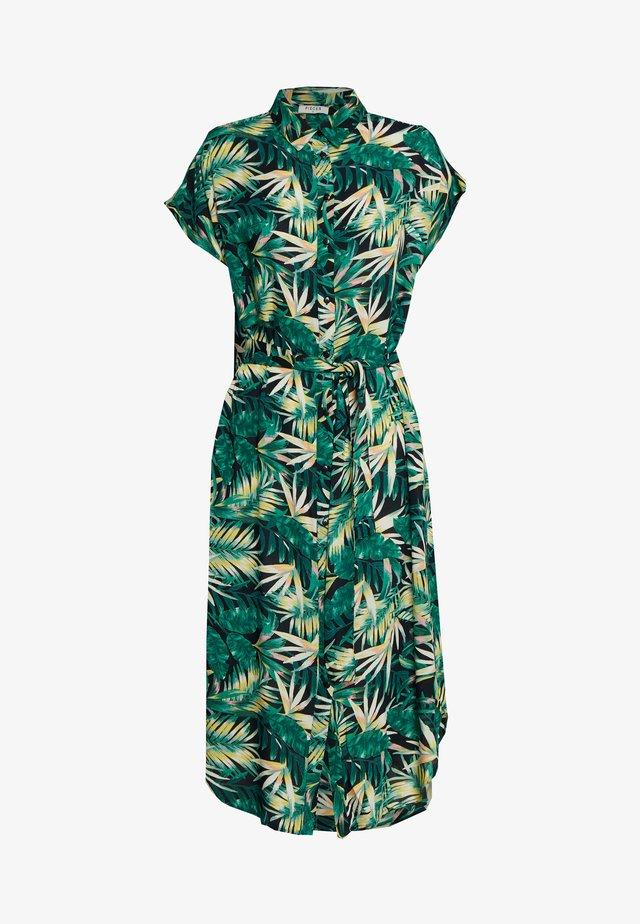 PCNYA DRESS - Skjortekjole - black/green