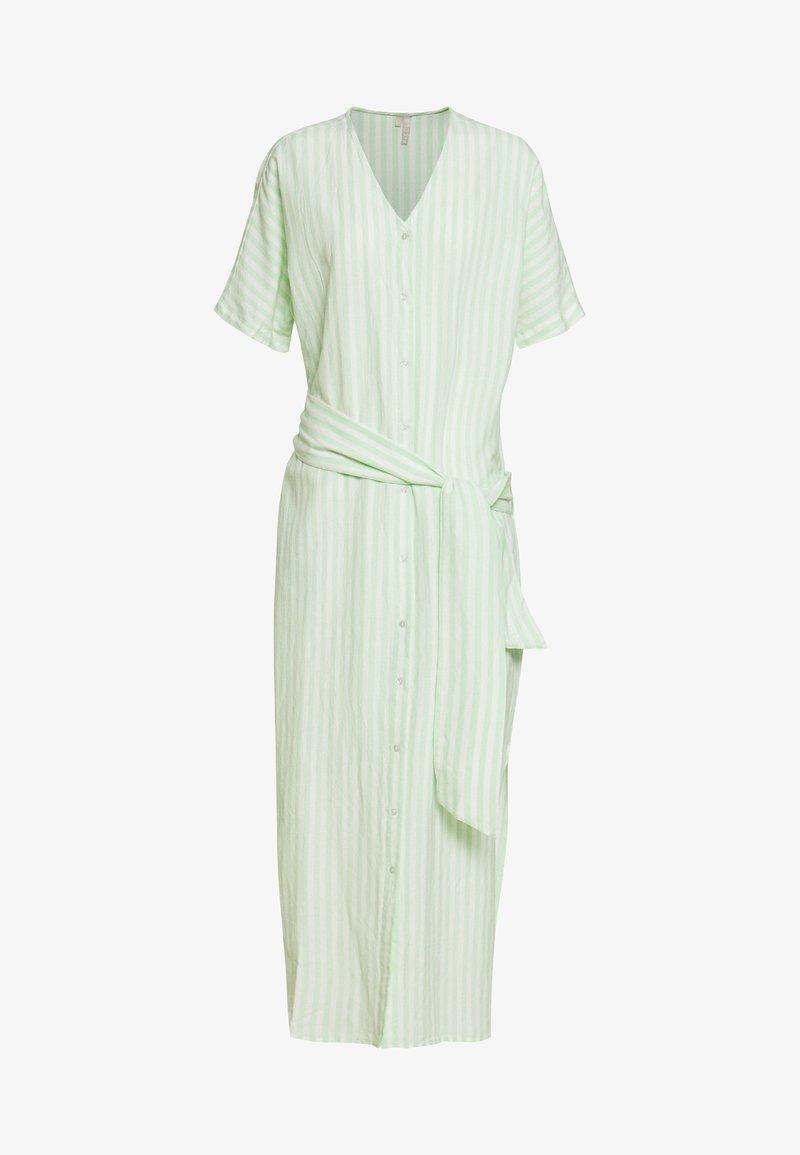 PIECES Tall - PCMELIKKA ANKLE DRESS - Skjortekjole - cloud dancer/pastel green