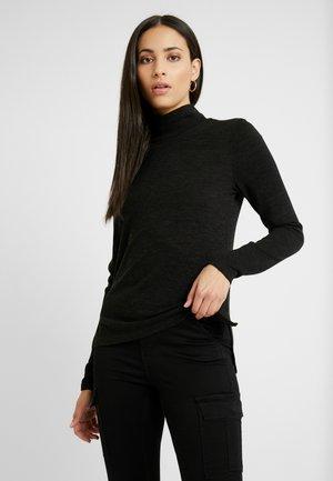 PCJANNIS HIGH NECK - Maglietta a manica lunga - black