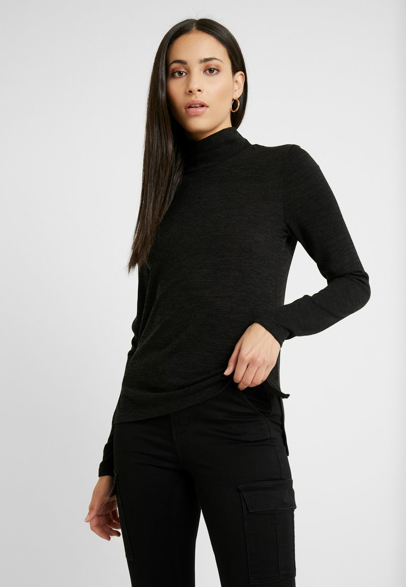 PIECES Tall - PCJANNIS HIGH NECK - Topper langermet - black